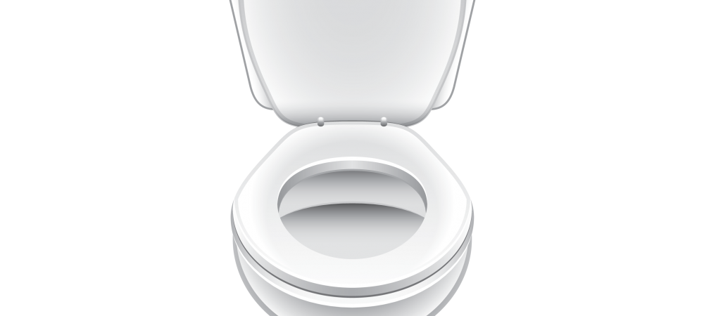 Cartoon rendering of a toilet.