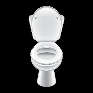 Cartoon rendering of a toilet.