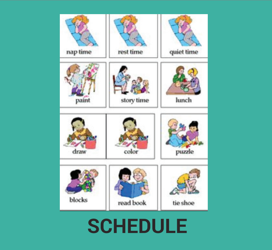Example of visual schedule.