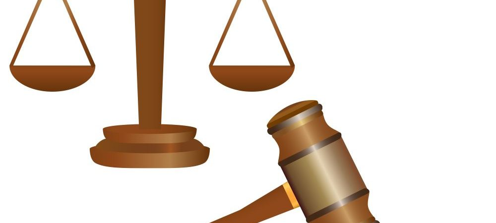 Justice scales and a gavel.