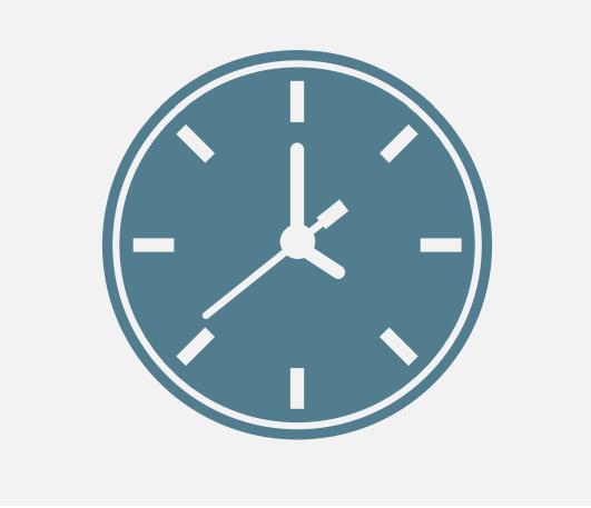 An analog clock.
