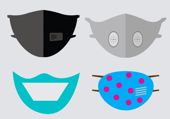 Four different types of masks.