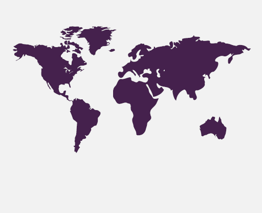 A map showing all of the continents across the world is shown.