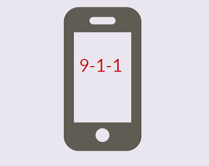 A cell phone with the number '9-1-1' on it.