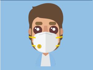 A man wearing a mask.