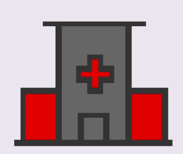 A cartoon rendering of an emergency department.