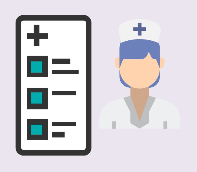 A checklist next to a nurse.