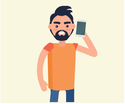 A man holding a cell phone up to his ear.