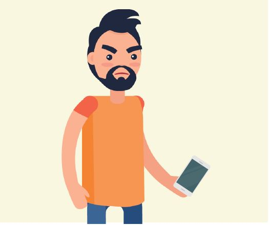 A man holding a cell phone.